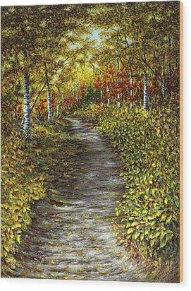 It Hiked Silver Bay Wood Print