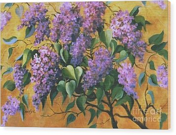 It Is Lilac Time 2 Wood Print