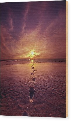 Wood Print featuring the photograph It Is Then That I Carried You by Phil Koch