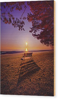 Wood Print featuring the photograph It Is Words With You I Seek by Phil Koch