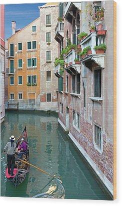 It Must Be Venice Wood Print by Janet Fikar