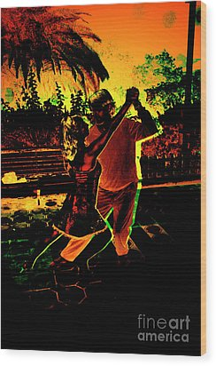 Wood Print featuring the photograph It Takes Two To Tango by Al Bourassa