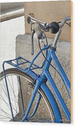 Italian Bike Wood Print by Robert Lacy