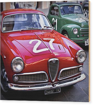 Italian Classics Alfa Romeo Wood Print by Patrick English