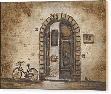 Italian Coffee Break Wood Print by Dianne  Ilka