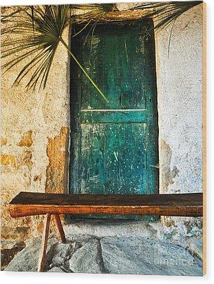 Italian Cottage Wood Print by Emilio Lovisa