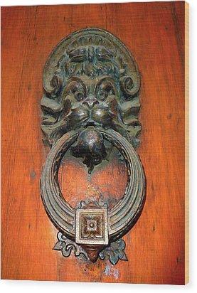 Italian Door Knocker Wood Print by Jen White
