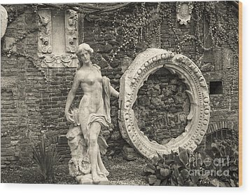 Italian Garden Wood Print
