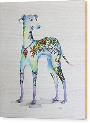 Italian Greyhound Tattoo Dog Wood Print
