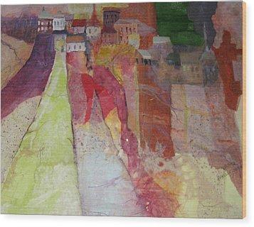 Italian Hill Town Wood Print