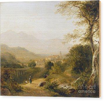 Italian Landscape Wood Print by Joseph William Allen