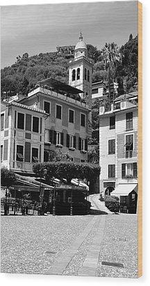 Italian Riviera Wood Print by Corinne Rhode