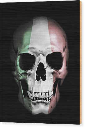 Wood Print featuring the digital art Italian Skull by Nicklas Gustafsson