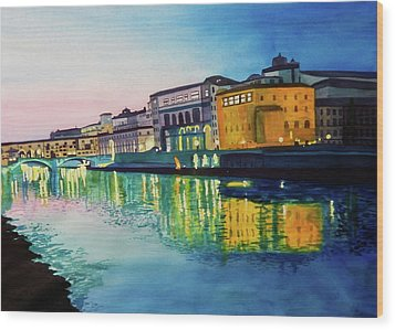 Italian Sunset Wood Print by Terry Honstead