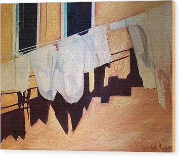 Italian Wash Wood Print by Patricia Arroyo