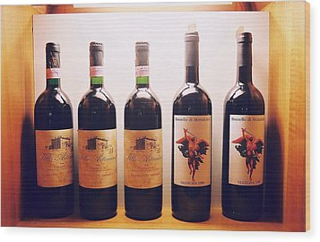 Italian Wines Wood Print by Kathy Schumann