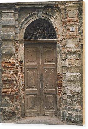 Italy - Door Four Wood Print