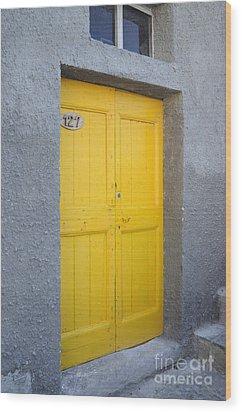 Italy - Door Three Wood Print