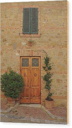 Italy - Door Nine Wood Print