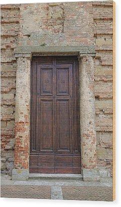 Italy - Door Nineteen Wood Print