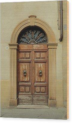 Italy - Door One Wood Print