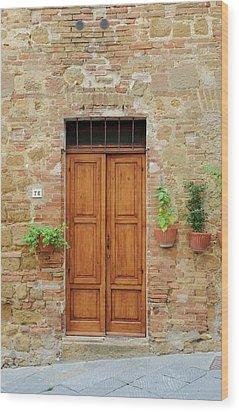 Italy - Door Six Wood Print
