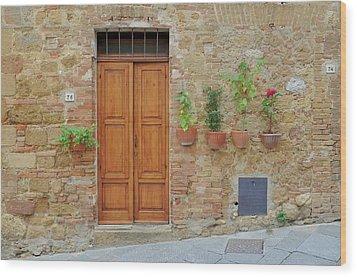 Italy - Door Twenty Wood Print