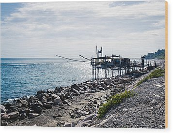 Italy - The Trabocchi Coast 2  Wood Print