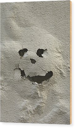 Italy, Tuscany, Florence, Spooky Face Wood Print by Keenpress