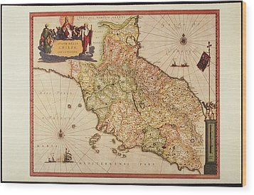 Italy, Vatican Church State,  Tuscany, Elba Island, And Marche Region Wood Print by Fototeca Storica Nazionale