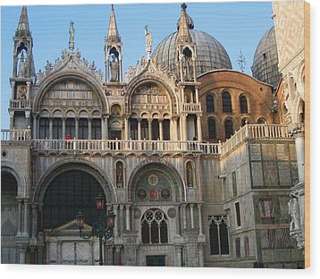 Italy Venice Doges Palace Wood Print by Yvonne Ayoub