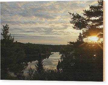 Wood Print featuring the photograph It's A Beautiful Morning by Debbie Oppermann