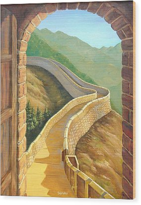 It's A Great Wall Wood Print by Tanja Ware