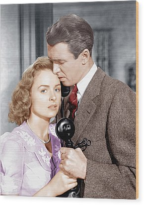 Its A Wonderful Life, From Left Donna Wood Print by Everett