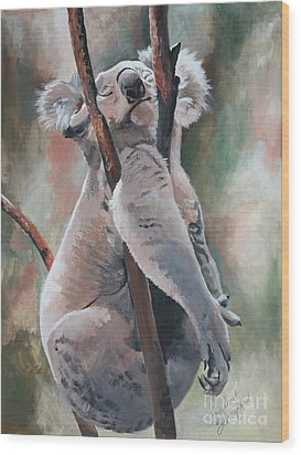 Its About Trust - Koala Bear Wood Print by Suzanne Schaefer