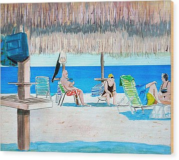 It's Always Sunny In Aruba Wood Print by Anthony Ross