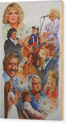 Its Country 1 Wood Print by Cliff Spohn