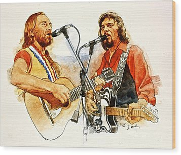 Its Country - 7  Waylon Jennings Willie Nelson Wood Print