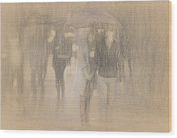 It's Raining In Georgia Wood Print by Angela A Stanton