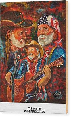 It's Willie Wood Print by Ken Pridgeon