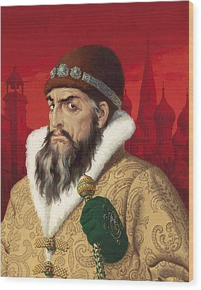 Ivan The Terrible Wood Print by English School