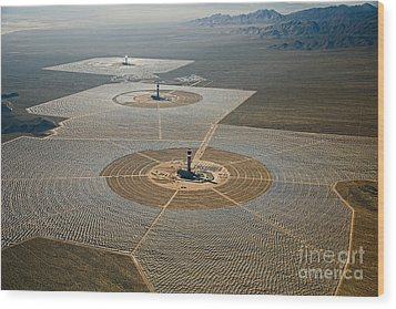 Ivanpah Solar Power Plant Wood Print by Jim West