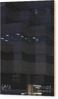 Wood Print featuring the photograph i've got Company by Viktor Savchenko