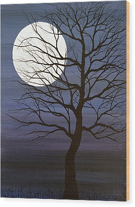 I've Touched The Moon Wood Print