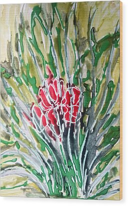 Ivine Flowers Wood Print by Baljit Chadha