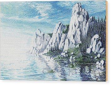 Ivory Cliffs Wood Print by Nils Bifano