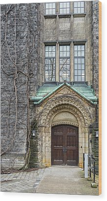 Ivy And The Door Wood Print