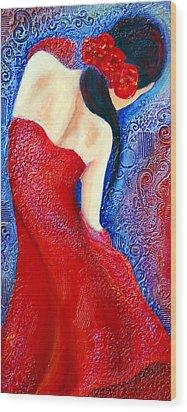 Iza Wood Print by Claudia Fuenzalida Johns