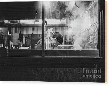 Izakaya Steam Wood Print by Dean Harte