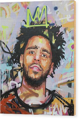 J Cole Wood Print by Richard Day